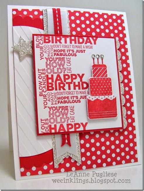 LeAnne Pugliese WeeInklings Make A Wish Birthday Stampin Up