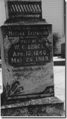 Martha Elizabeth Ganus Brock's Headstone