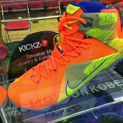 nike lebron 12 gr orange silver yellow 1 05 New Colorway of the Nike LeBron 12 is as Bright as the Sun