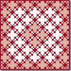 red and white quilt 74 x 74 with border2