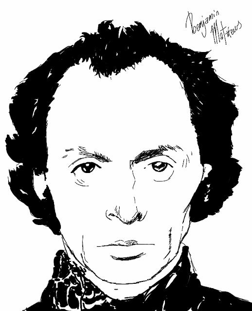 R.D. Laing Sketch - Famous psychotherapists - Creative CBT
