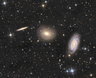 trio de galáxias em Dragão