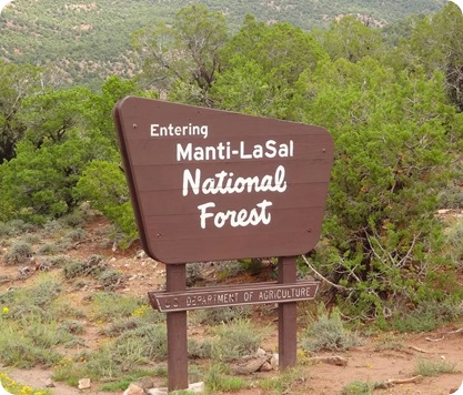 LaSal mt sign