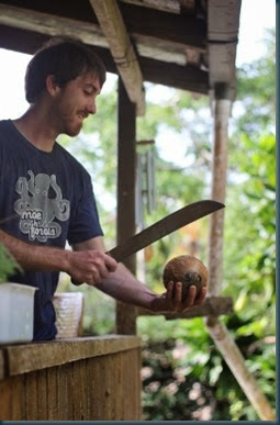 Brennen opening coconut