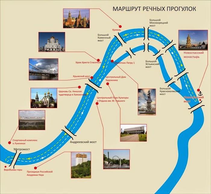 речные прогулки по Москве