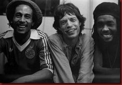 Bob Marley e Mig Jeagger juntos