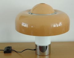 Guzzini Brumbry lamp orange with switch