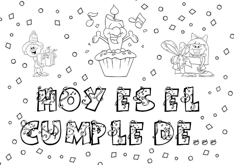 Perfecto Imprimible Gratis Feliz Cumpleaños Para Colorear Molde ...