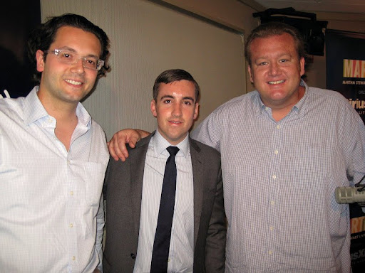Altamarea beverage directors and sommeliers, Hristo Zisovsky and Francesco Grosso with Chef White.