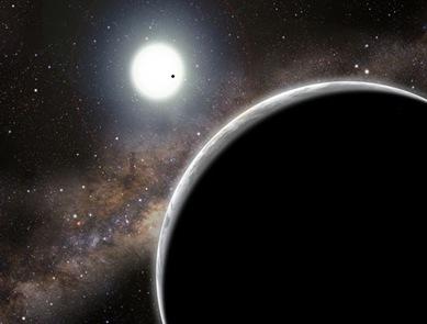 ilustração do exoplaneta Kepler-19c