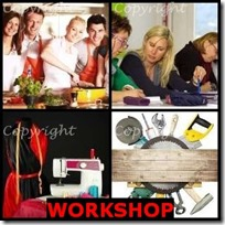 WORKSHOP- 4 Pics 1 Word Answers 3 Letters