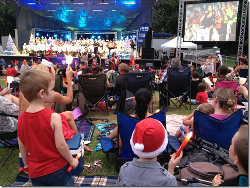 at Carols by Candlelight