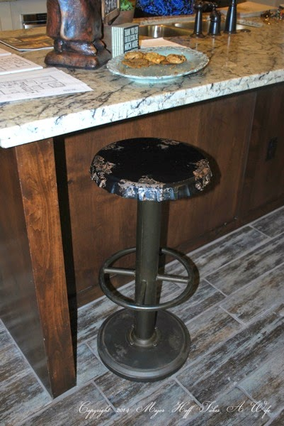 Vintage soda pop lid stool