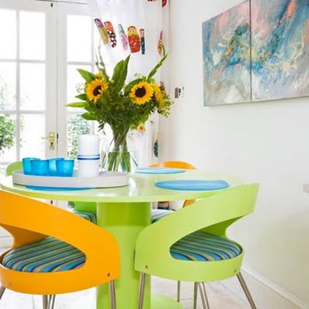 Lemon and lime dining room