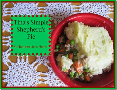 Tina's Simple Shepherd's Pie
