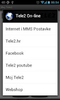 Screenshot of Moj Tele2