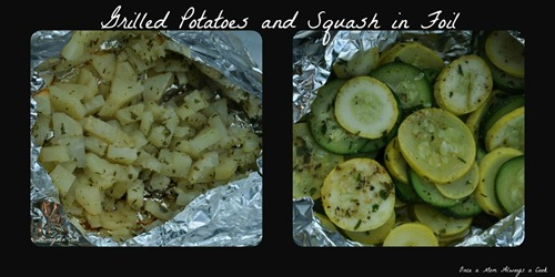 Grilled Potatoes and Squash in Foil