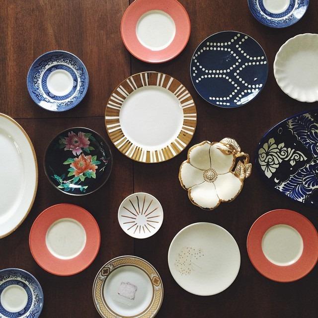 thriftscorethursday anatomyofdesign thrifted plates