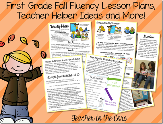 Fall Fluency Lesson Plans