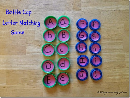 Battle Cap Letter Matching #alpahbet #preschool