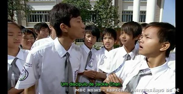 O personagem do filme e seu desejo de ser discipulo de Jackie Chan.