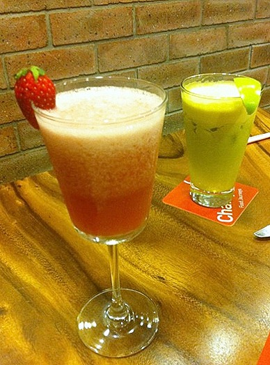 Charly T's Drinks Menu Juice Bar 112 katong Nomu Green Flash and Red Tang
