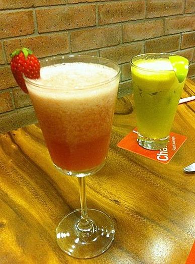 Charly T's Drinks Menu Juice Bar 112 katong Nomu Green Flash and Red Tang