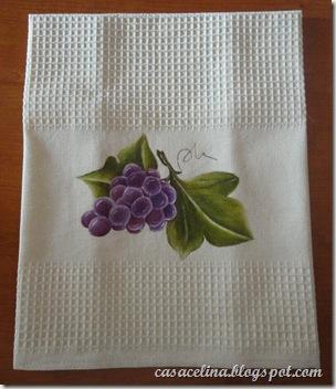 pano louça uvas