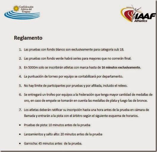 Reglamento Nacional Sub 18