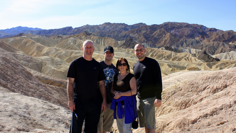 Family Photo at Zabriskie Point