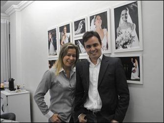 Rossano e a sócia Cristina Voguel