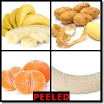 PEELED- 4 Pics 1 Word Answers 3 Letters