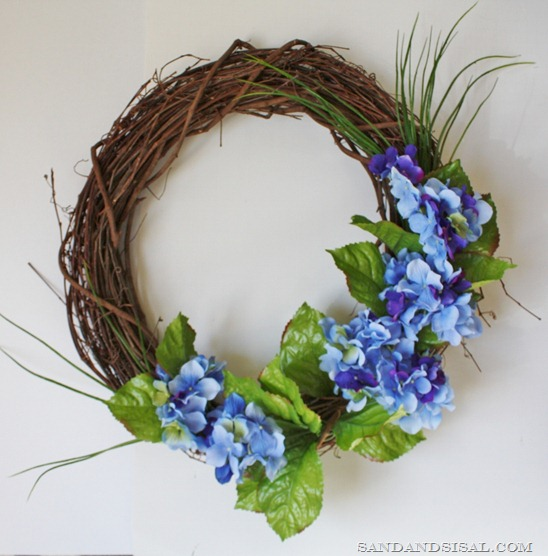 Making a spring wreath