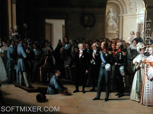 Tsar-Alexander-I-1777-1825-Visiting-The-Paris-Hotel-De-La-Monnaie-On-25th-May-1814,-1844-2