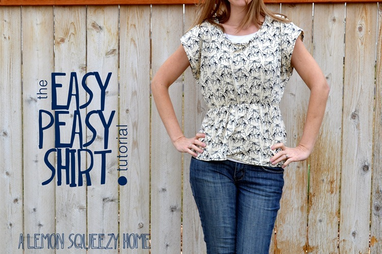 the Easy Peasy Shirt tutorial {a lemon squeezy home}