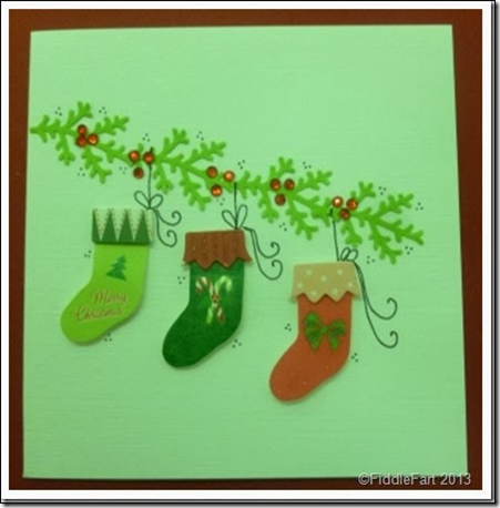 Christmas Stocking Card 1