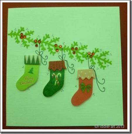 Christmas Stocking Card 1
