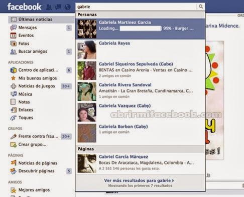 Buscar a un amigo haciendo uso del buscador de Facebook