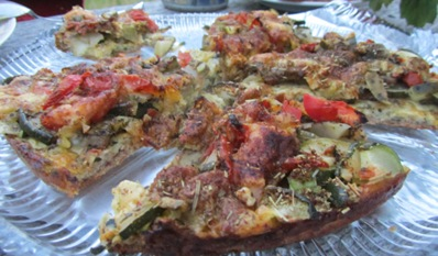 Köstliche Zucchinipizza