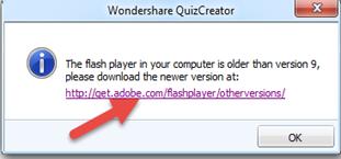 แก้ไข error ใน wondershare quiz creator