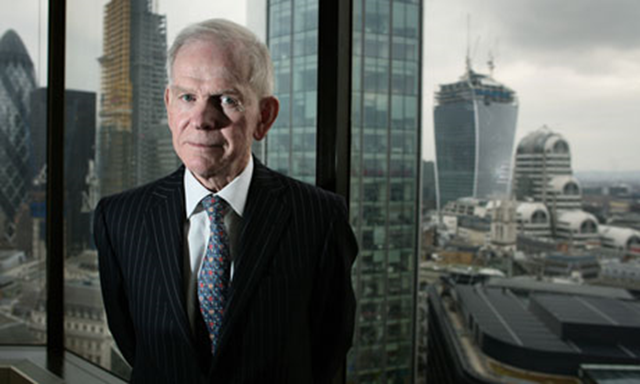 Environmental philanthropist Jeremy Grantham: 'Anyone who says government can't do this, or can't do that, I say a pox on you'. During a Keystone XL pipeline protest, he said, 'What we are trying to do is buy time. Buy time for the world to wake up.' Photo: Martin Godwin / Guardian