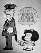 Quino Mafalda e a Borracha de apagar ideologias