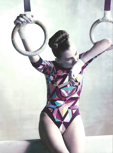 This printed lycra bodysuit was designed for a special project for the 2008 Beijing Olympics.