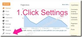 image Blogger- Click Settings