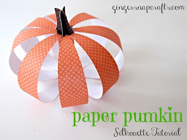 paper pumpkin tutorial from Ginger Snap Crafts