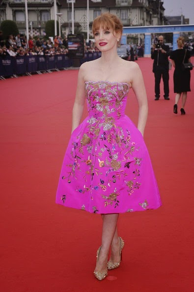 Jessica Chastain Opeing Ceremony 40th Deauville