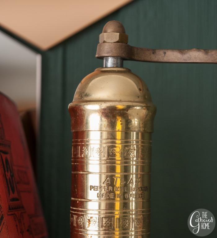 thriftscorethursday brass pepper mill4