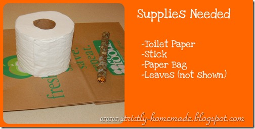 Supply List Paper Bag Pumpkin