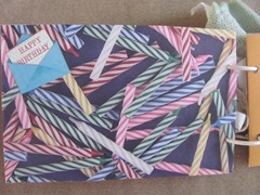 Cape Kellys birthday book candles page with HB