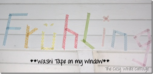 Washi tape on my window